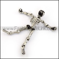 Exquisite Stainless Steel Skull Pendant   p004056