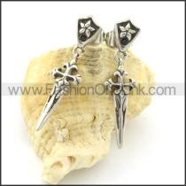 Fashion Stainless Steel Stone Earrings   e000661
