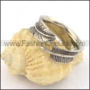 Vintage Feather Ring r001381
