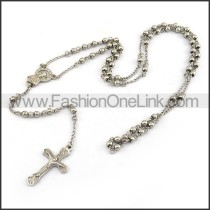 Exquisite Cross Rosary Necklace n001198