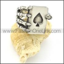 Finger Holding Ace of Heart Ring r001221