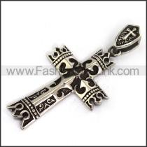 Delicate Stainless Steel Cross Pendant   p003653