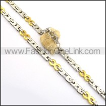 Gold and Silver Plated Necklace n000760