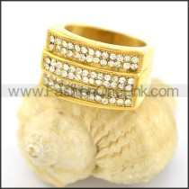 Exquisite Stone Stainless Steel Ring r001617