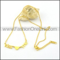 Golden Chic FOREVER Necklace    n000459