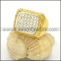 Exquisite Shiny Stone Stainless Steel Ring r002785