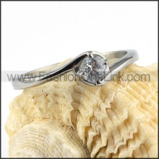 Stainless Steel Classic Prong Setting Ring r000021