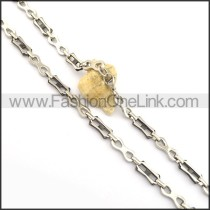 Decorous Black and Silver Plated Necklace n000834