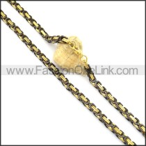 Black and Gold Plated Necklace n000734