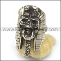 Delicate Stainless Steel Skull Ring   r001990