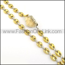 Golden Plated Necklace    n000316