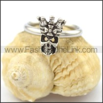Graceful Stainless Steel Stone Ring  r002085