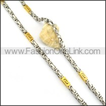 Two Tone Plated Necklace  n000150