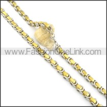 Chic Golden Plated Necklace n000583