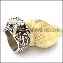 Stainless Steel Vintage Style Ring r000871