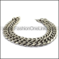 Chic Silver Stamping Necklace n001121