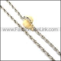 Delicate Silver Staming Necklace  n000357