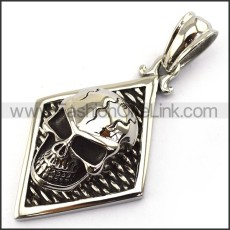 Exquisite Stainless Steel Skull Pendant   p003726
