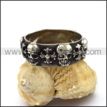 Vintage Stainless Steel Skull Ring  r003265