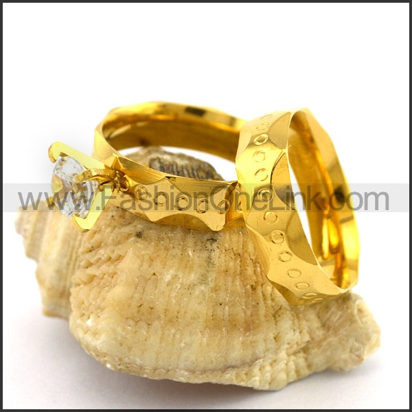 Exquisite Stainless Steel Couple Ring  r003076