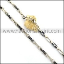 Chic Two Tone Plated Necklace n000828