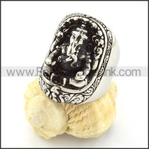 Stainless Steel Punk Style  Biker Ring  r000517