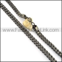 Chic Black Plated Necklace  n000509