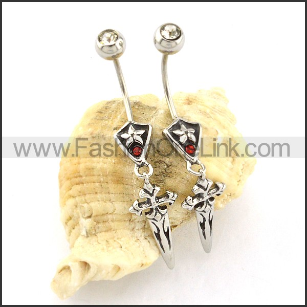 Exquisite Stainless Steel Cross Earrings   e000435