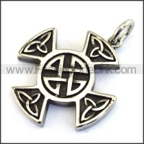 Delicate Stainless Steel Casting Pendant    p003523