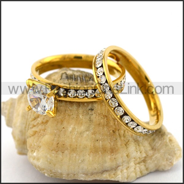 Exquisite Stainless Steel Stone Ring  r003140