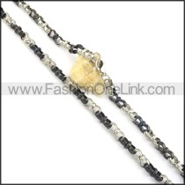 Black and Silver Plated Necklace