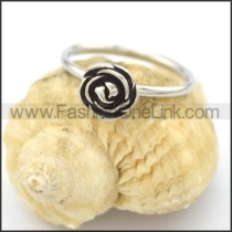 Graceful Stainless Steel Stone Ring  r002083