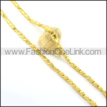 High Quality Golden Plated Necklace n000643