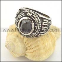 Vintage Black Zircon Ring r001386
