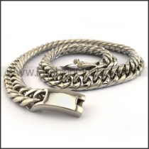Interlocking Chain Plated Necklace n001125