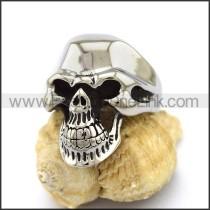 Delicate Stainless Steel Skull Ring  r003163