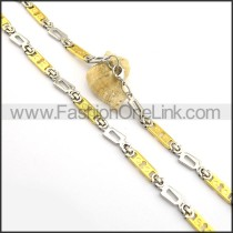 Good Quality Gold and Silver Plated Necklace n000764