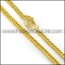 Golden Plated Necklace   n000457