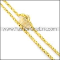 Delicate Golden Plated Necklace n000565
