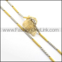 Two Tone Plated Necklace n000687