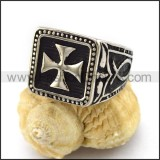 Unique Stainless Steel Casting Ring  r003010