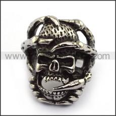 Stainless Steel Skull Ring  r003692