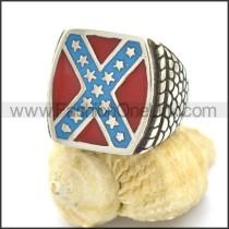 Stainless Steel American Flag Biker Ring r002605