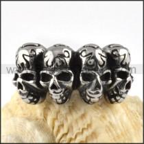 Stainless Steel Four Skulls Ring   r000082
