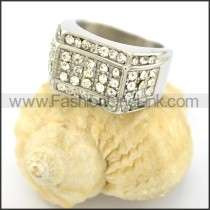 Exquisite Stone Stainless Steel Ring r001618