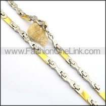 Delicate Two Tone Plated Necklace n000761
