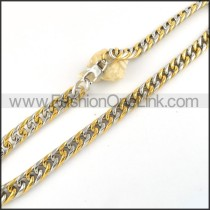 Two Tone Chain Plated Necklace   n000069