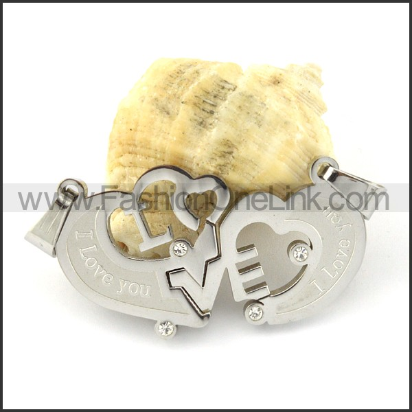 Exquisite Stainless Steel Couple Pendant  p000942