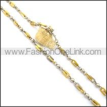 Delicate Gold and Silver Plated Necklace n000768