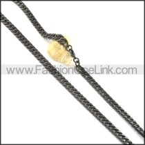 Delicate Black Plated Necklace  n000514